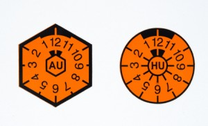 Die HU-Prüfplaketten