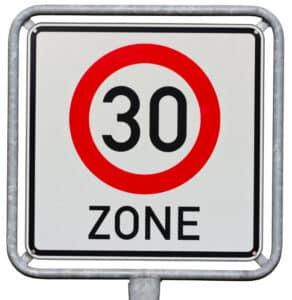 Waren Sie zu schnell in einer 30er Zone unterwegs?