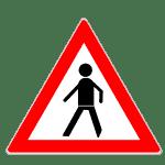 Zeichen 133: Fußgänger