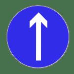 Zeichen 209: Vorgeschriebene Fahrtrichtung Geradeaus