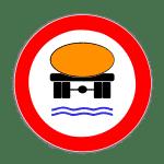 Zeichen 269: Verbot für Fahrzeuge mit wassergefährdender Ladung