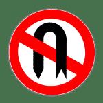 Zeichen 272: Verbot des Wendens
