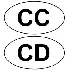 Die Zusatzschilder CC und CD sind in der Regel an Autos mit Diplomatenkennzeichen anzubringen