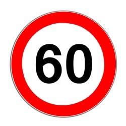 Angezeigt wird eine neue Höchstgeschwindigkeit durch dieses Schild.