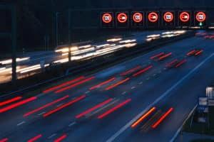 Blitzer an einer Baustelle werden oft auf der Autobahn eingesetzt