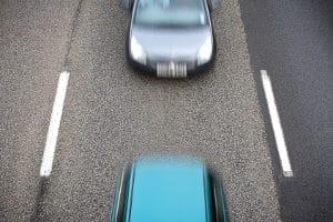Der Einsatz von ProViDa verlangt einen konstanten Abstand des Polizeiautos zum vorausfahrenden Kfz.