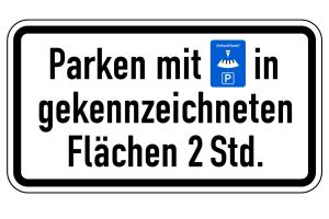 Autofahrer können sich hier für eine Parkscheibe, die elektronisch oder manuell funktioniert, entscheiden.