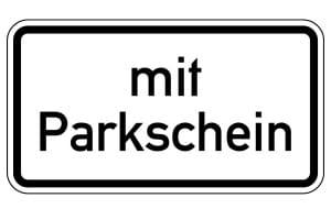 Mit Parkschein