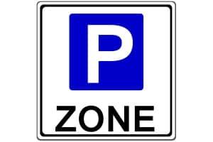 Beginn der Parkraumbewirtschaftungszone